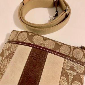 Coach Suede & Leather Crossbody Bag